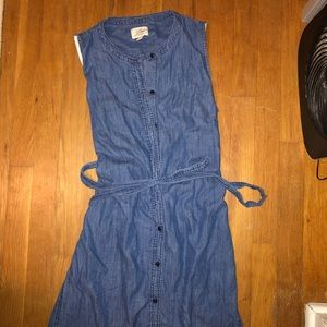 Jcrew denim button down dress